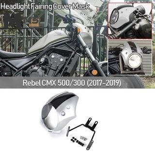 用於2017-2019年本田Rebel CMX 300500 CMX300的摩托車大燈整流罩罩面罩大燈整流罩