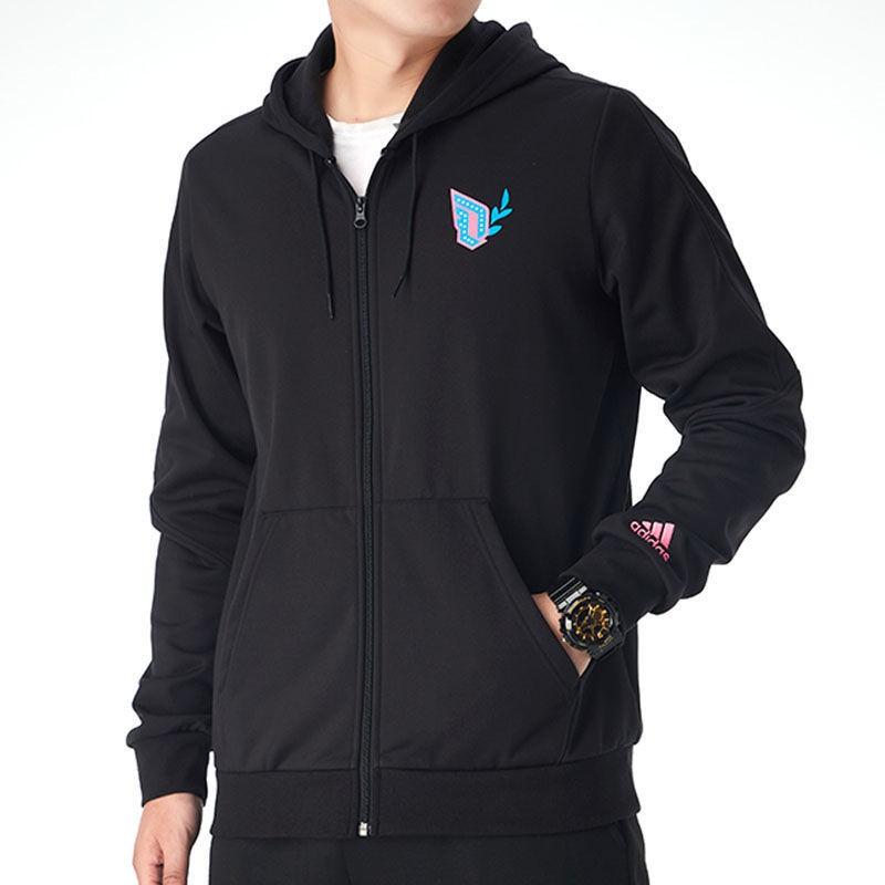 東金靚淘運動阿迪達斯外套男裝2020冬季新款休閑運動服跑步訓練連帽夾克GP6259