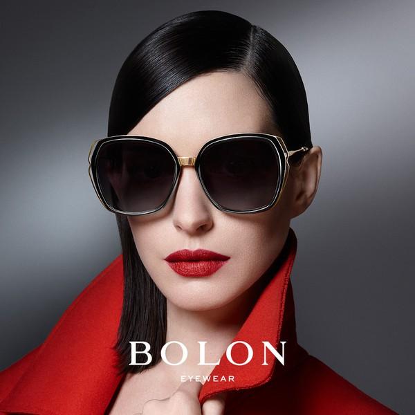 【BOLON 暴龍】經典款蝶形大矩方框太陽眼鏡 明星代言款 BL6017