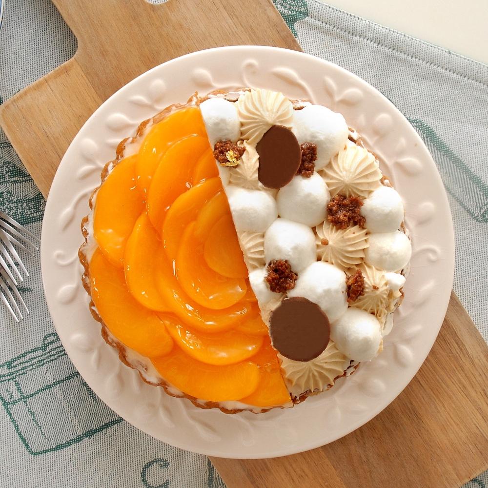 【亞尼克】雙享派6吋 焦糖水蜜桃【雙口味組】