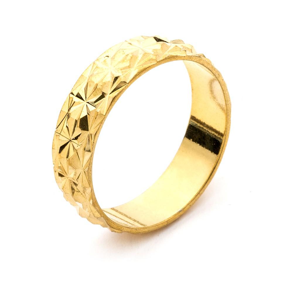 滿天星多角切面 黃金戒指 防退色 鍍24K金色 仿金 艾豆『H1548』