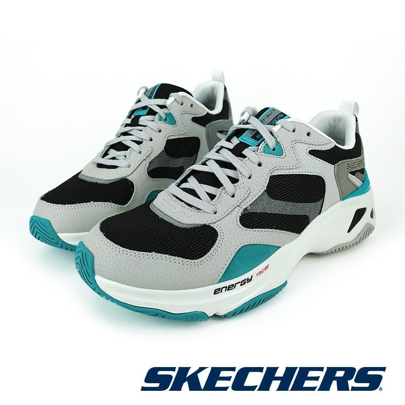 【SKECHERS】 運動系列ENERGY RACER-237128WBK-男/黑白-原價3390元
