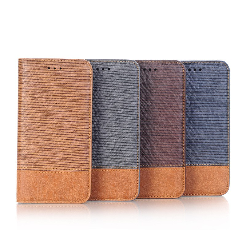 IPhone XS Max XR X 8 7 Plus SE 2 2020 皮革保護套樹皮紋隱藏磁扣翻蓋皮套手機套