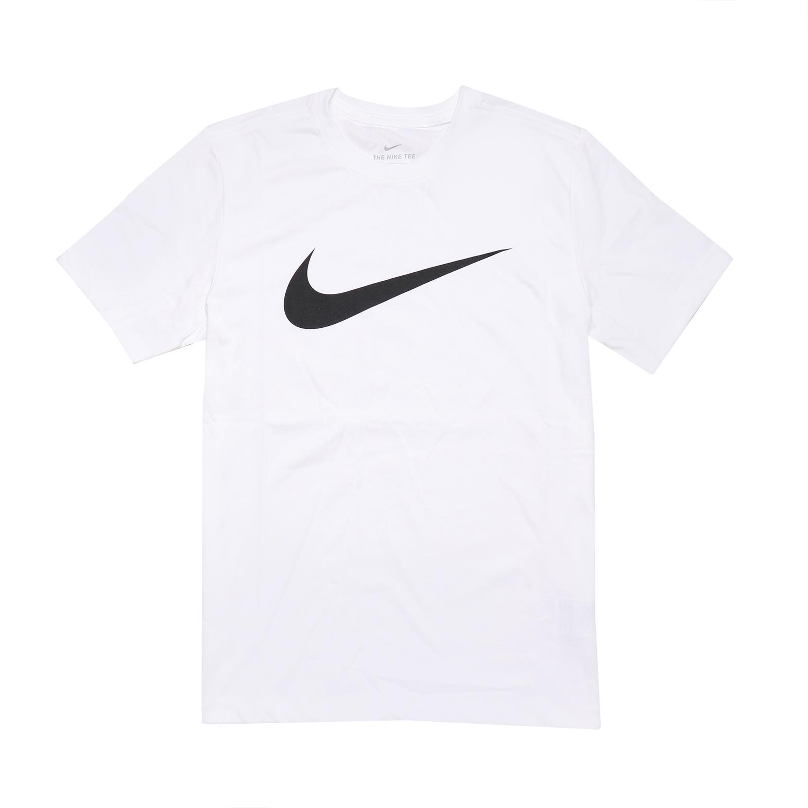 Nike 短袖T恤 NSW Swoosh 白 黑 男款 短T 運動休閒【ACS】 DC5095-100