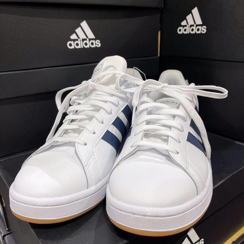 【現貨+預購-面交折100】  Costco 代購 adidas 愛迪達GRAND COURT 經典 復古 皮革 休閒鞋