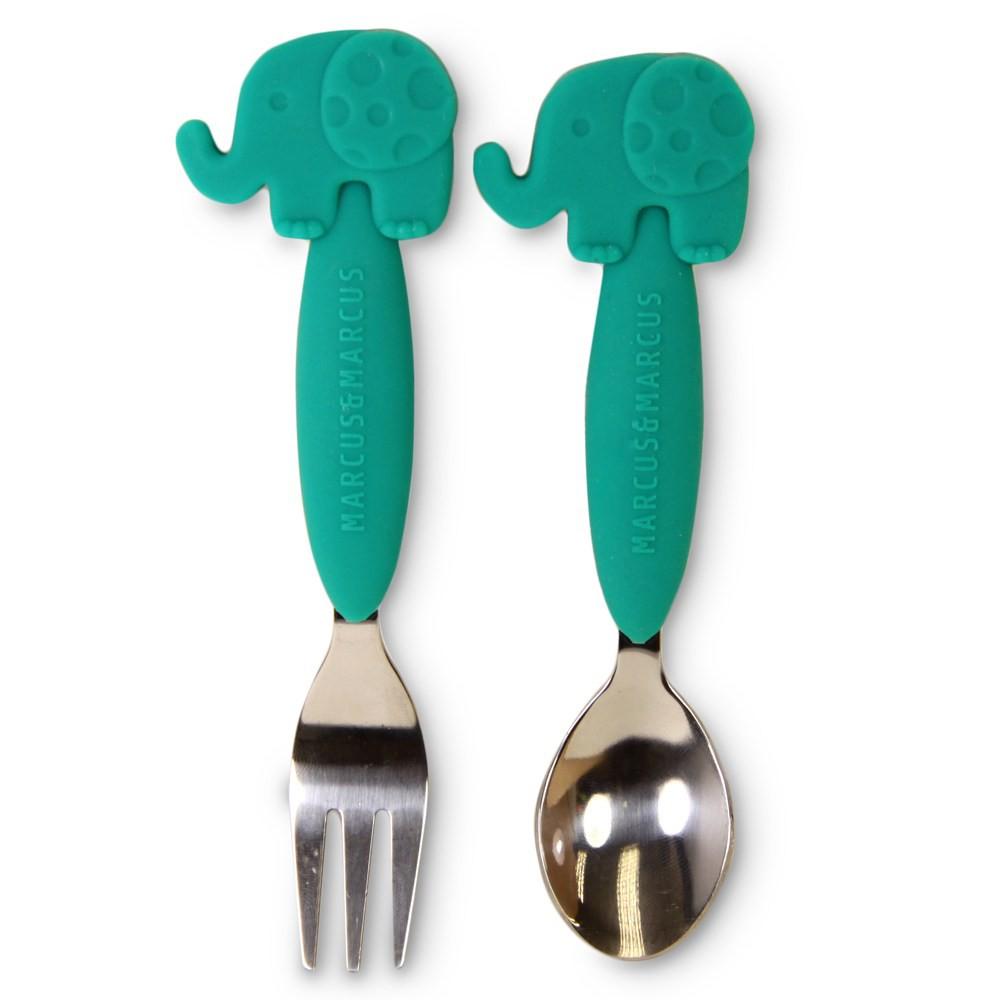 動物樂園不鏽鋼叉匙餐具組-大象