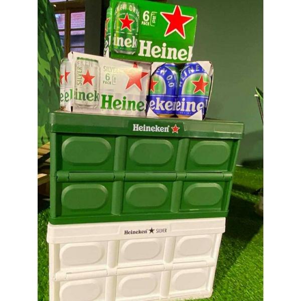 7-11 海尼根露營箱 露營桌 海尼根摺疊箱 收納盒