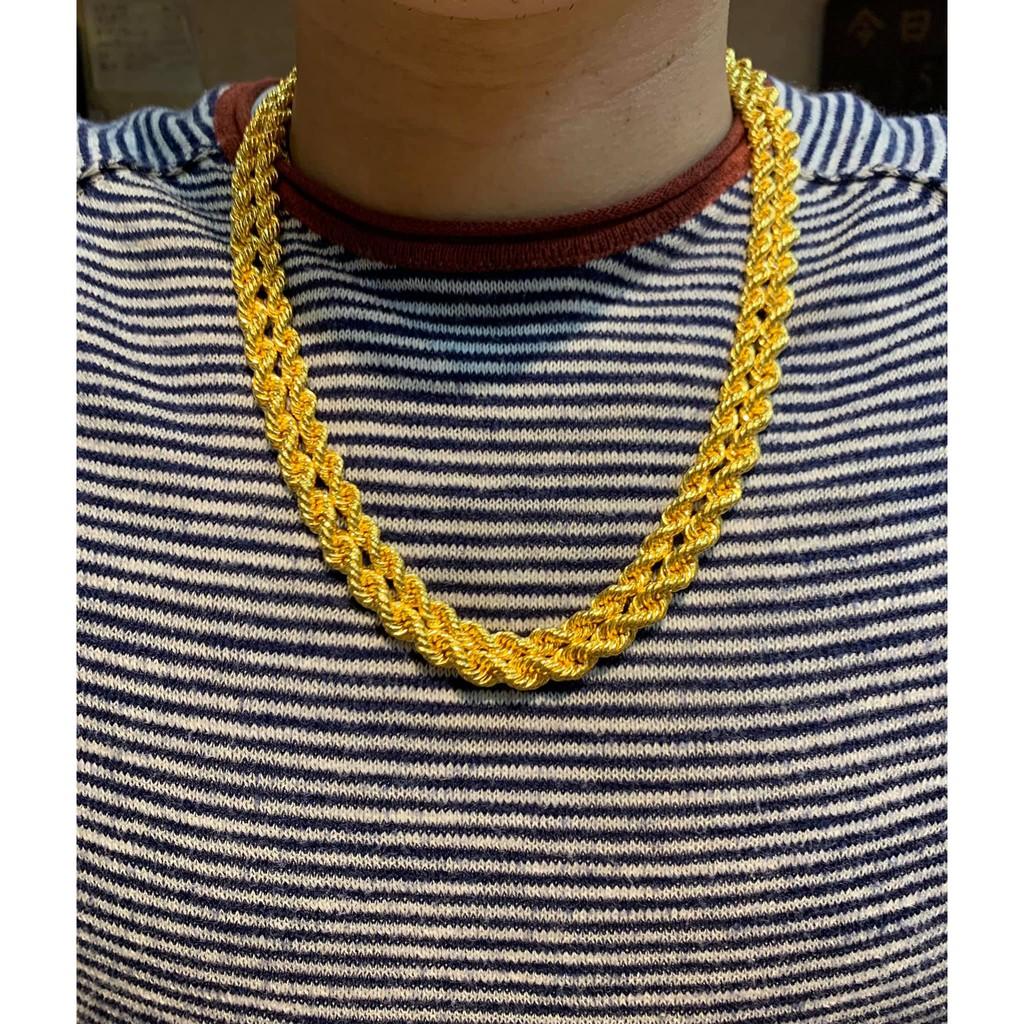 鈿合珠寶 純黃金貳兩、參兩麻花2尺項鍊到貨