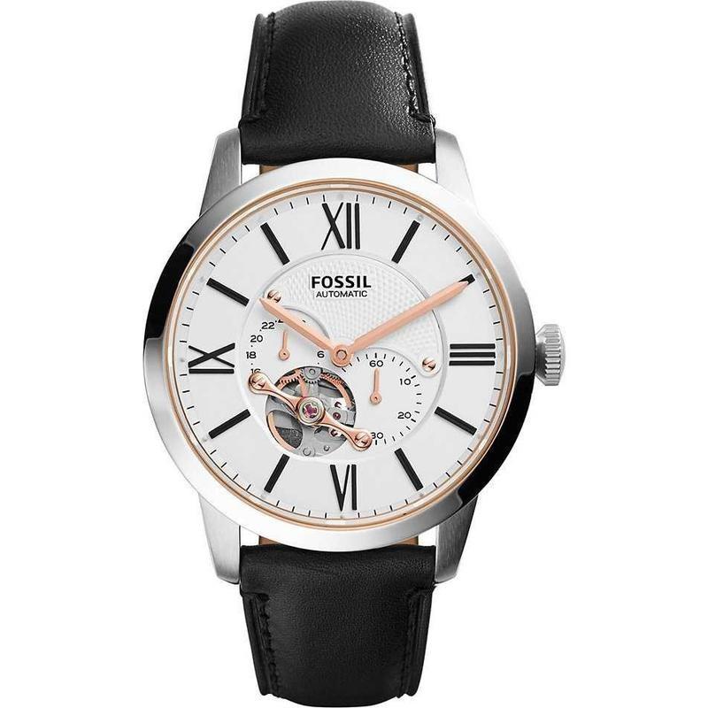 FOSSIL手錶 ME3104 前後鏤空 獨立秒針 簡單大氣 機械錶款 錶現精品 原廠正品