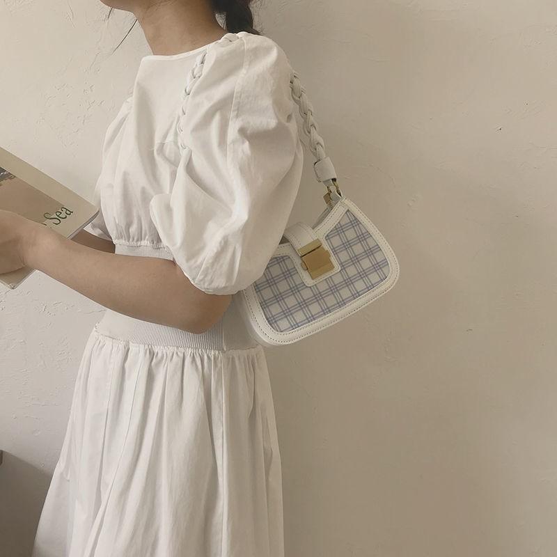 女包手工編織腋下包包女2020新款網紅小眾設計包百搭ins斜挎包