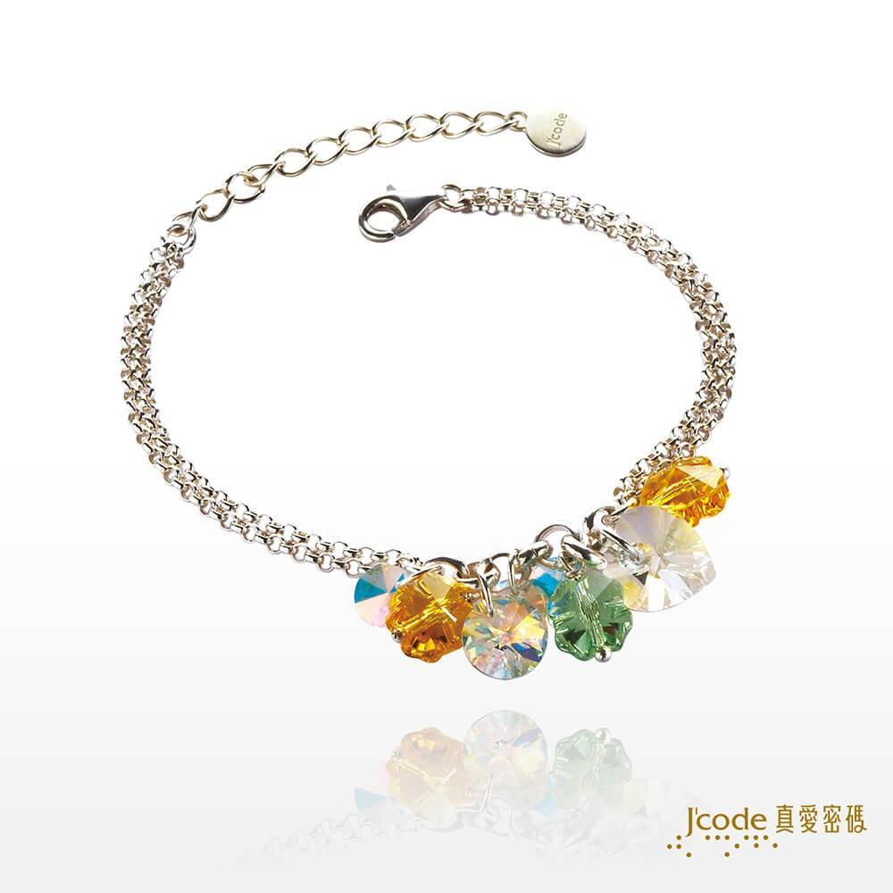 【J'code 真愛密碼】水晶盛夏純銀手鍊