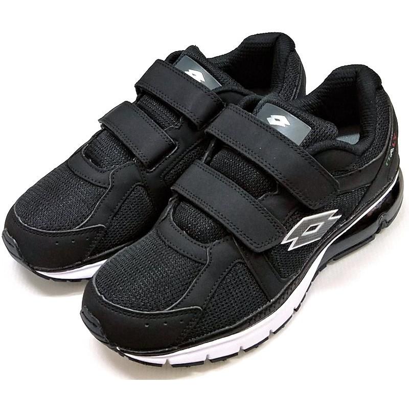 LOTTO 樂得 DELL絆帶氣墊跑鞋/健走鞋 3D厚鞋墊 黑LT9AMR0860