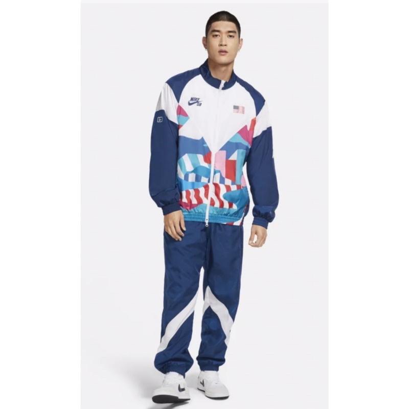 代購東京奧運NIKE SB滑板競賽項目美國隊外套+褲 套裝。