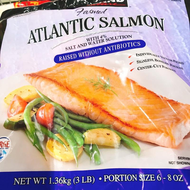Costco 科克蘭 挪威鮭魚排 (1.36kg)