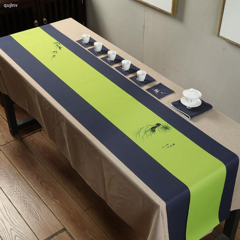 1209防水茶席麻布禪意布藝手繪桌旗中式中國風日式茶旗長條桌布訂制