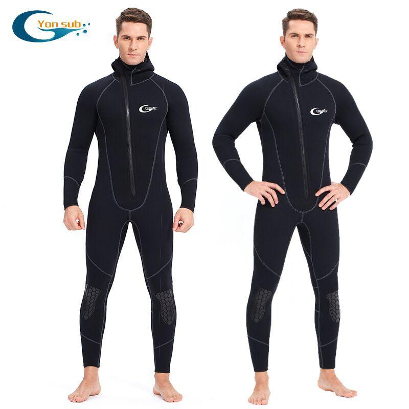 【綠色運動】7MM 5MM 3MM三種厚度長袖連體潛水衣 保暖潛水服 防寒衣  游泳衣 防曬衣 潛水水母衣防割裝備