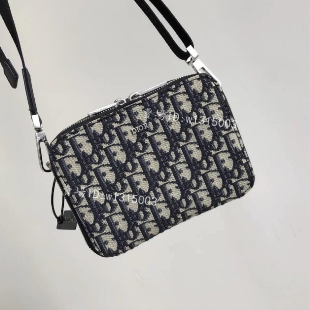 雅靜二手正品專賣  DIOR 相機包 QUAKE Dior Oblique 黑色 緹花 斜背 手拿包