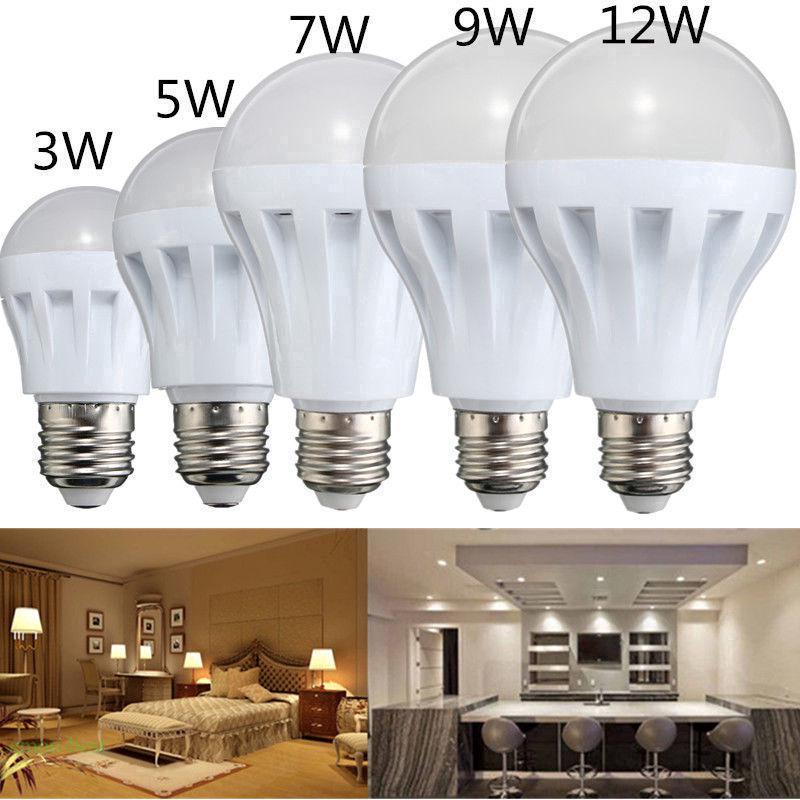 220V 超亮環保節能省電燈泡 家用室內照明燈泡 3/ 5/ 7/ 9/ 12/ 15W LED燈泡 E27螺旋燈球泡 螺旋卡口