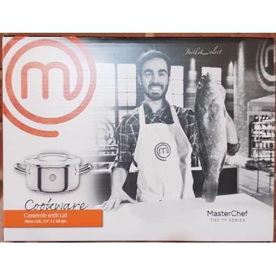 全新 MasterChef 20公分不鏽鋼雙柄湯鍋(附蓋)2.9公升
