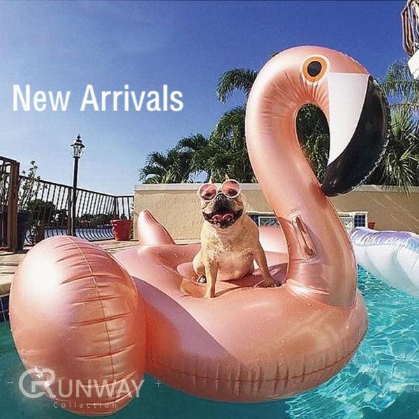 【送打氣筒】現貨 海灘渡假 造型泳圈 玫瑰金 火鶴 泳圈 火烈鳥 浮床 充氣玩具 夏日必備