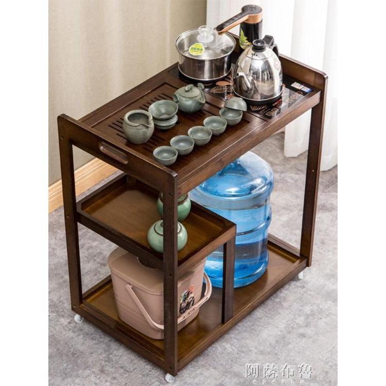 COC茶具車 移動茶台茶幾家用小茶桌茶水架客廳陽台泡茶車茶具置物架子茶車(4$$)