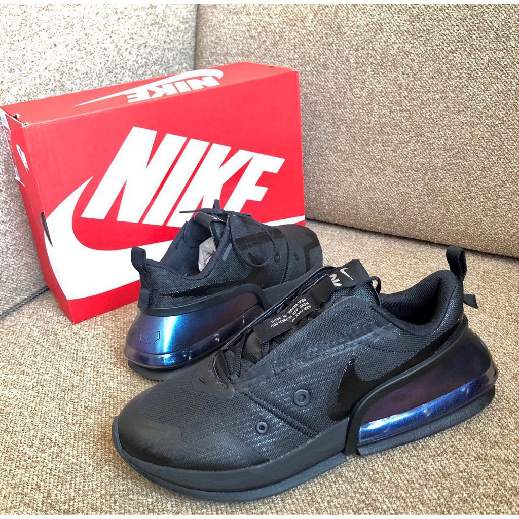 "Nike Air Max Up NRG ""Triple Black"" 黑 藍紫 大氣墊 厚底 女鞋 CK4124-001"