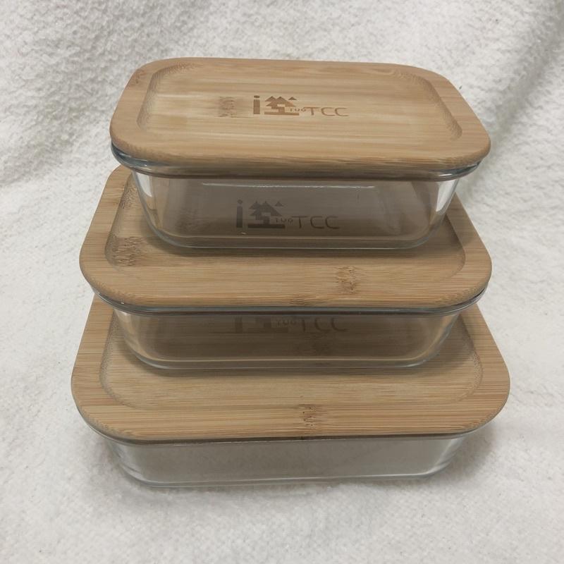 全新 台泥股東會紀念品 竹蓋玻璃保鮮盒