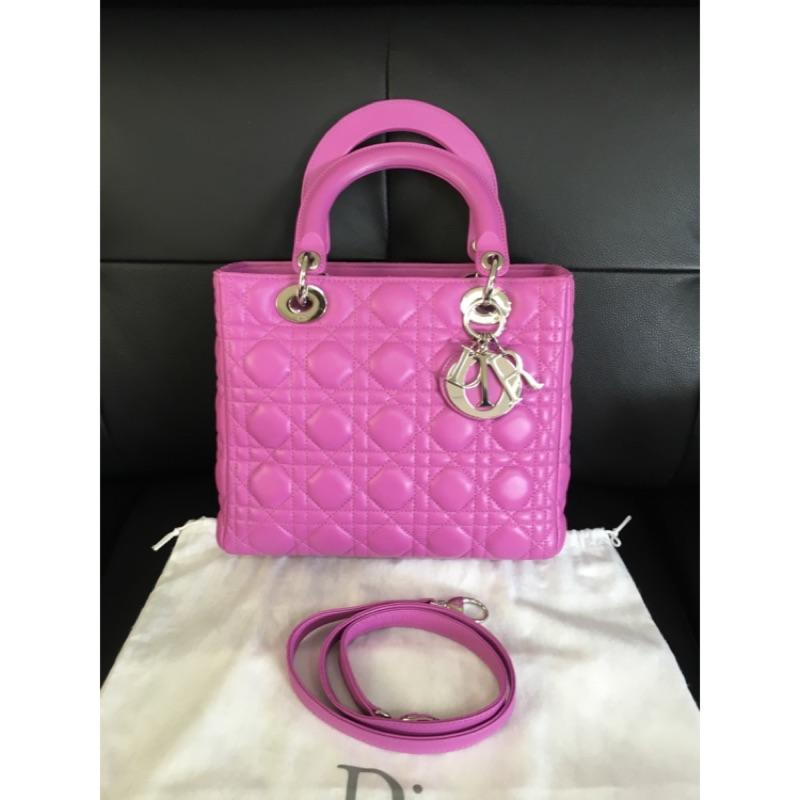 Dior桃紫色黛妃包