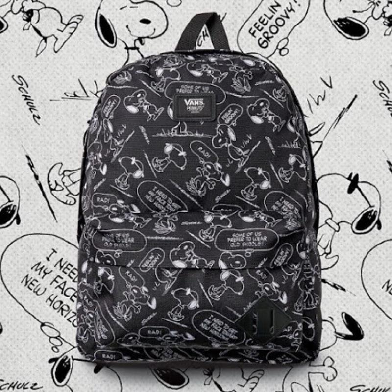 VANS x Peanuts Snoopy 史努比背包 限量聯名款查理布朗後背包 旅行包 書包 snoopy comic