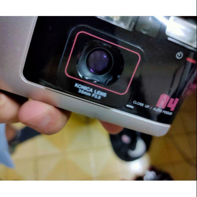 底片 傻瓜相機 ,konica big mini 35mm f3.5 lomo 含電池 皮套 手腕帶