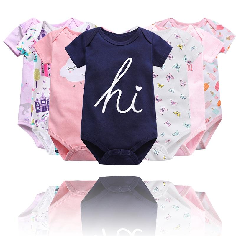 Vlinder童裝女寶寶高品質純棉短袖包屁衣多色可選