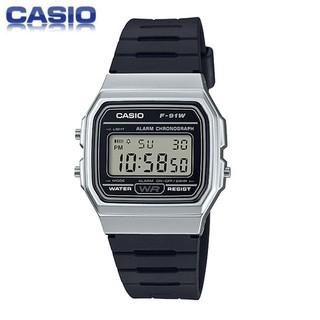腕錶先生  正品 日本CASIO卡西歐手錶男女 金色黑色 防水電子錶 當兵 學生 LED 輕便復古造型 運動錶F91 苗栗縣