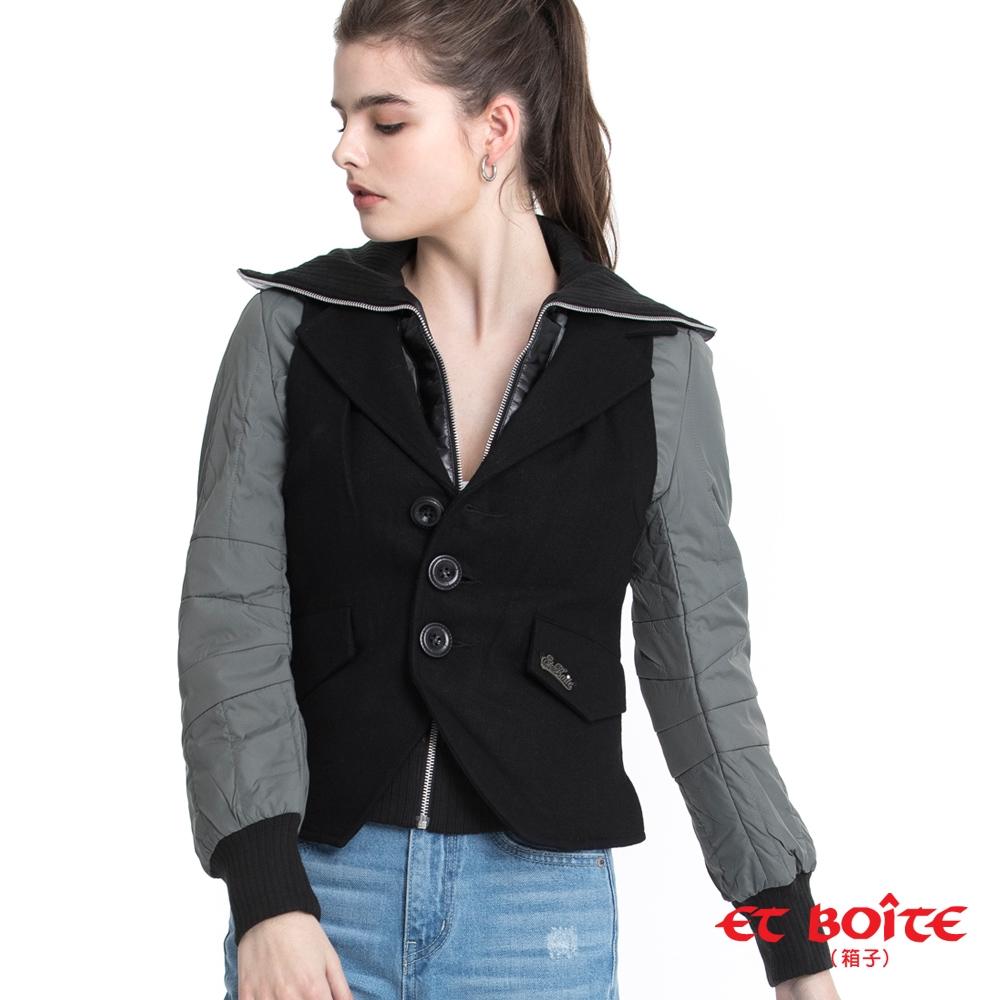 BLUE WAY ET BOiTE 箱子-女款 外套/兩件式可拆背心夾克(灰)