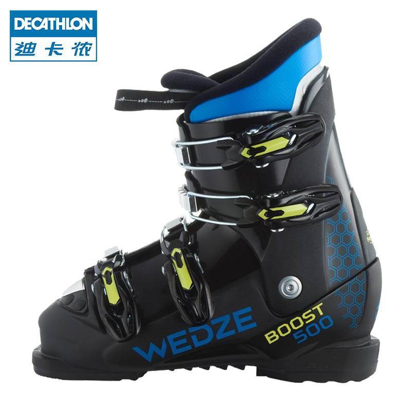 迪卡儂 兒童雙板滑雪鞋男童 女童青少年高幫保暖雪地靴WEDZE KIDK