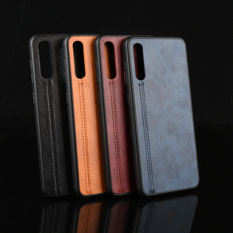 豪華皮革簡潔 Etui Coque Samsung A50 Case Galaxy A70 A50S A30S A20S