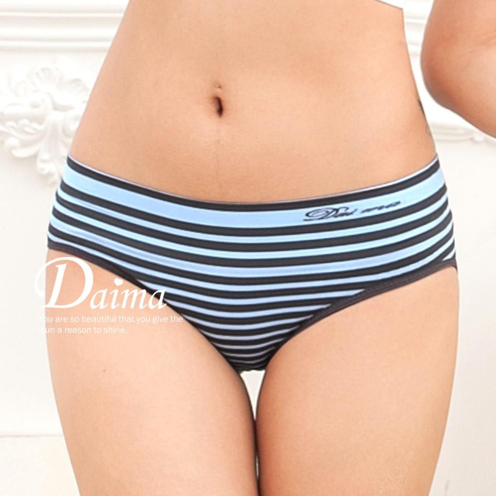 【黛瑪Daima】MIT內褲 竹炭 超彈 中低腰 無縫褲 藍 2312