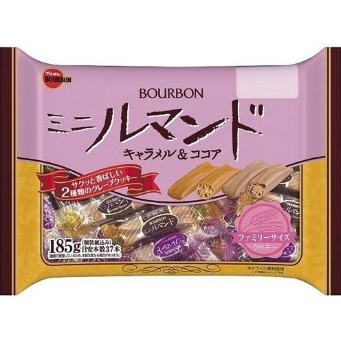 +爆買日本+ BOURBON 北日本 迷你蘿蔓捲 焦糖&可可味 家庭包 焦糖羅曼捲 蘿蔓捲 捲心酥 日本餅乾 日本進口