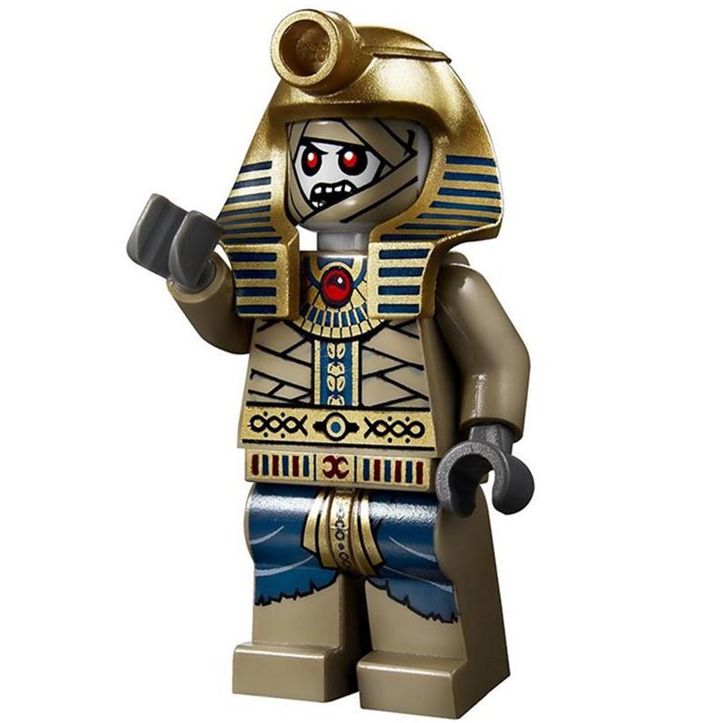 LEGO 樂高 埃及探險系列  木乃伊 法老王人偶  pha007 配權杖 7327