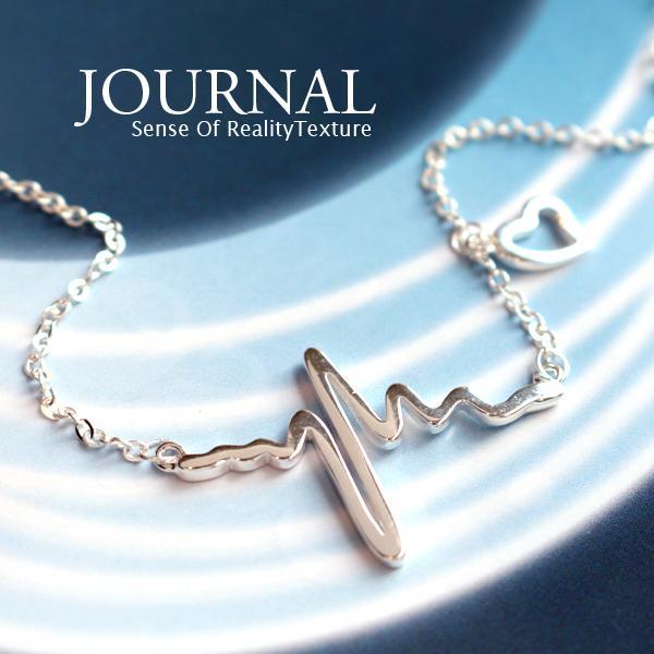 925純銀 心頻符號設計感手鍊_Journal