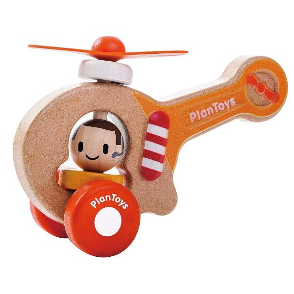 PlanToys 轉動直升機【麗兒采家】