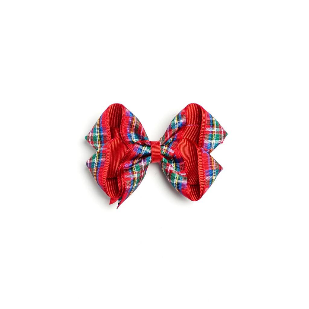 【Monkey Bow】蘇格蘭紅 (中) 髮飾 -熱賣款