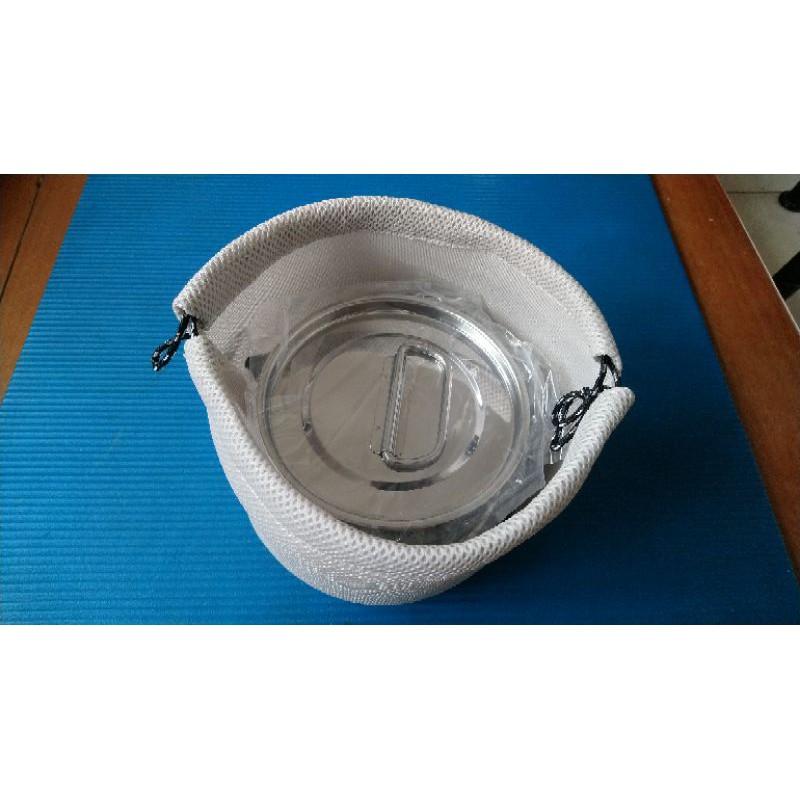 灰白色3D網眼布鍋具.爐具.保護收納袋 立體透氣網布整理袋19X18CM 2L M-5511UH-4202可用
