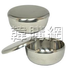 韓國不鏽鋼飯碗(較輕薄、含蓋)【韓購網】