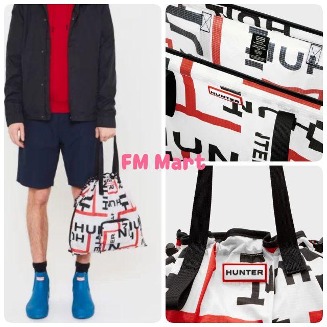 🇬🇧Hunter Boots輕量抽繩束口包 徽標Logo 全新 抽繩收納包包 輕量 實用 環保包 購物包