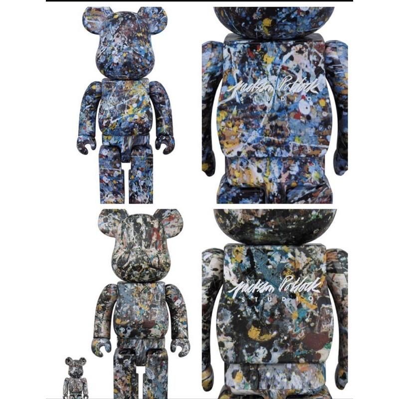 BE@RBRICK Jackson Pollock Studio Ver.1.0 & Ver.2.0 潑墨初代 二代