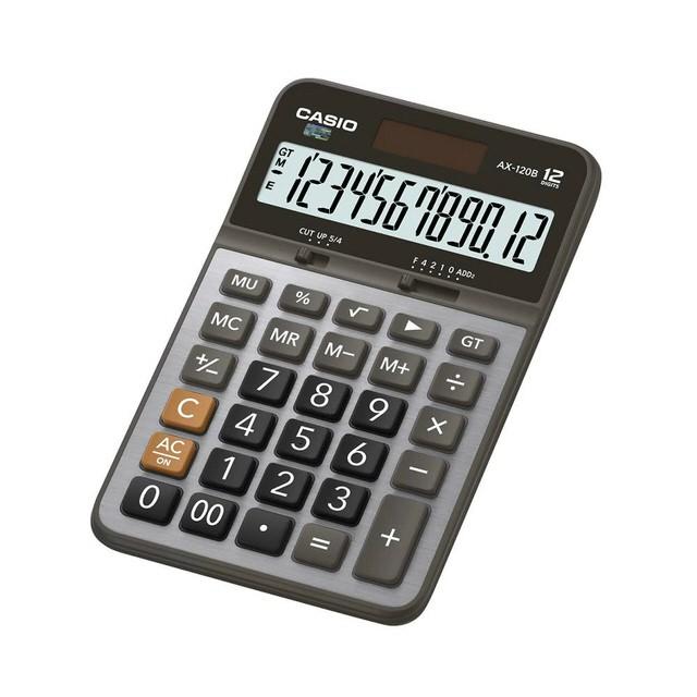 【CASIO卡西歐】12位數商用型計算機/AX-120B