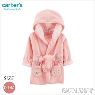 『Enen Shop』@Carters 可愛粉貓咪款連帽浴袍/ 浴巾/ 包巾 #126H781 0-9M 新生兒/ 彌月禮 新竹縣