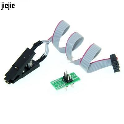 SOP8 測試夾 燒錄夾 IC夾子線 窄體 寬體 刷機通用夾 BIOS燒錄座 Fjiejie3C電子