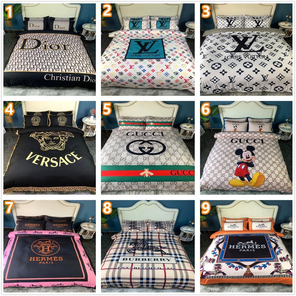 歐美大牌床包組 多色可選 范思哲 LV GUCCI Dior 床包 凡賽斯 床組/床包/床套/床單/床包/被套/四件套