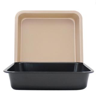 (全場五折)DIY正方形烤盤 不粘蛋糕模 6吋8吋正方形烤盤 披薩盤 蛋糕模具